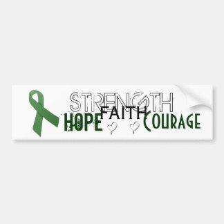 Strength hope faith courage cerebral palsy bumper sticker