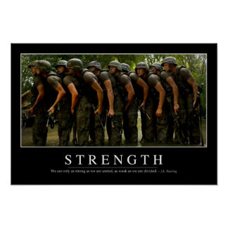 Strength: Inspirational Quote Poster