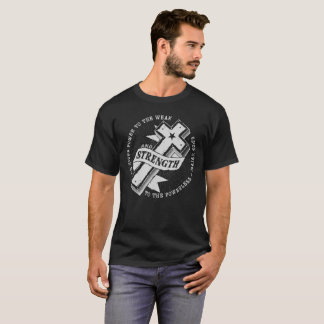 Strength - Isaiah 40:29  Dark T-Shirt
