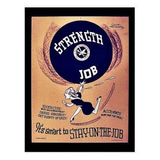 Strength Job Postcard