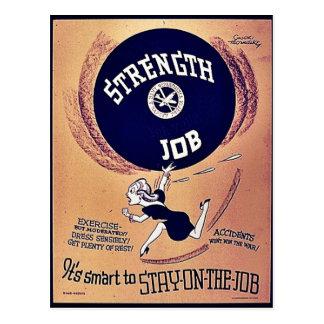 Strength Job Postcards
