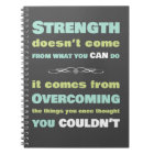 Strength Motivational quote Notebook
