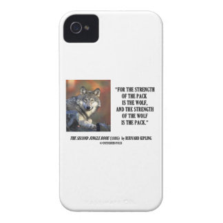 Strength Of The Pack Is The Wolf Kipling Quote Case-Mate iPhone 4 Case