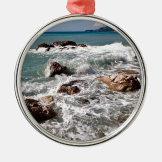 Strength of the sea - island Sicily Metal Ornament