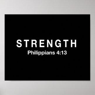 Strength Philippians 4:13 Poster