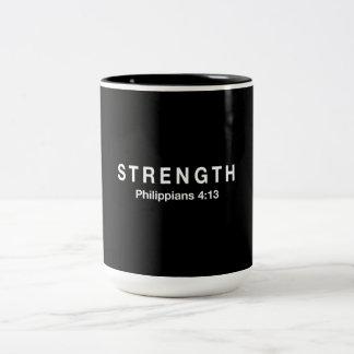 Strength Philippians 4:13 Two-Tone Coffee Mug