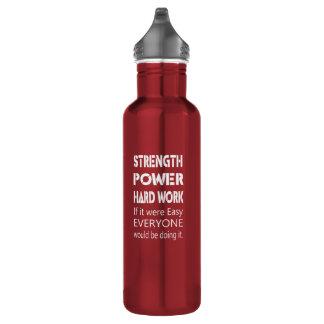 Strength Power Hard Work 710 Ml Water Bottle