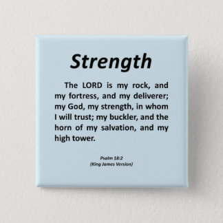 Strength Psalm 18-2 15 Cm Square Badge