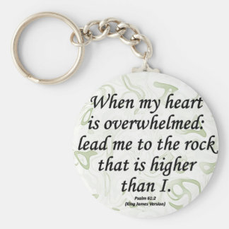 Strength Psalm 61-2 Basic Round Button Key Ring