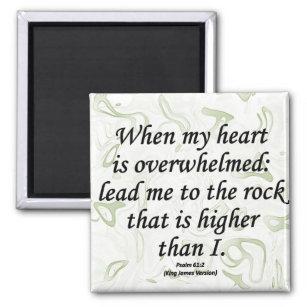 Strength Psalm 61-2 Magnet