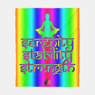 Strength Stability Serenity Rainbow Intentions Fleece Blanket