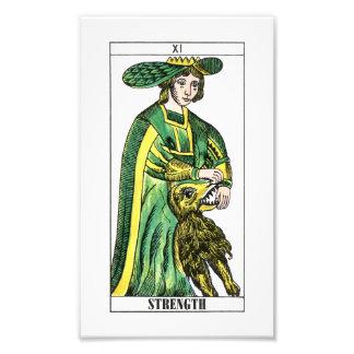 Strength Tarot Card Photographic Print