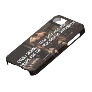 Strength Training Motivation - Traps - Workout iPhone 5 Cases