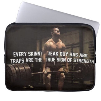 Strength Training Motivation - Traps - Workout Laptop Sleeve