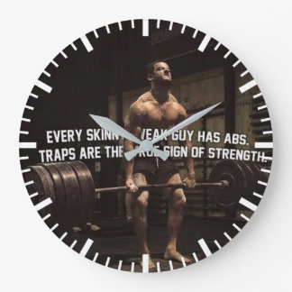 Strength Training Motivation - Traps - Workout Large Clock