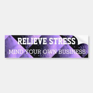 stress bumper stickers