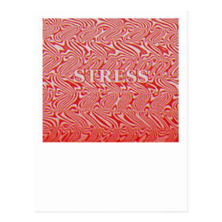 Stress Pattern Postcard