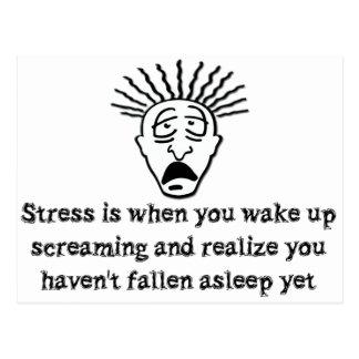 Stress - Wake up screaming Postcard