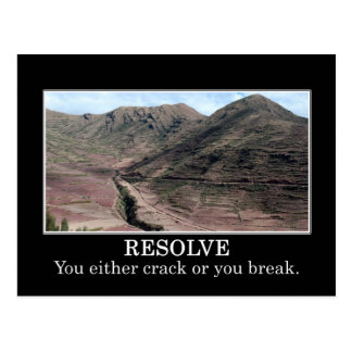 Stress will cause you to crack or break postcards