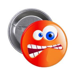 Stressed Smilie 6 Cm Round Badge