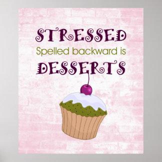 Stressed spelled backward is Desserts Poster