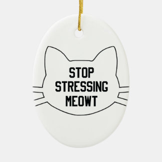 Stressing Meowt Ceramic Oval Decoration
