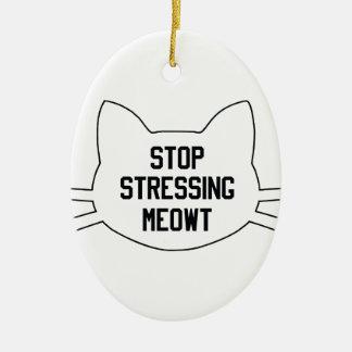 Stressing Meowt Ceramic Oval Decoration