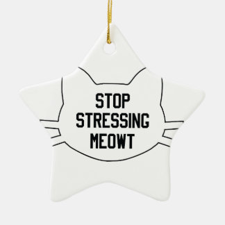 Stressing Meowt Ceramic Star Decoration