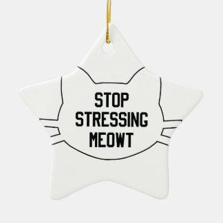 Stressing Meowt Ceramic Star Decoration