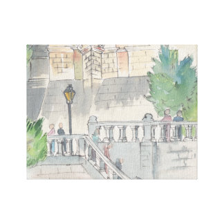 "Stretch Canvas ""Watercolor Sketch/Chateau of Blois"
