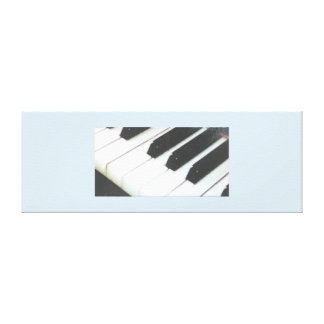 Stretched canvas piano keys print