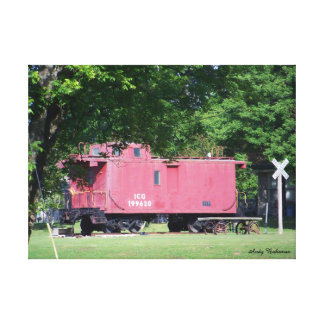 Stretched Canvas Print - Caboose - Atoka, TN