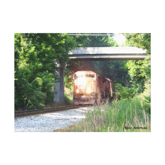Stretched Canvas Print - CN Railroad - Atoka, TN