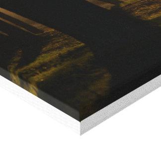 Stretched Canvas Print Coastal Sunset