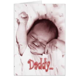 Stretching Baby Girl Father's Day from Daughter Card