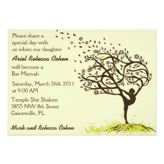 Stretching My Limbs Bar Mitzvah Personalized Invites