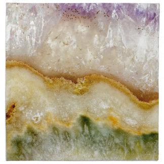 Striated Amethyst in Purple Gold & Green Napkin