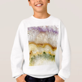 Striated Amethyst in Purple Gold & Green Sweatshirt