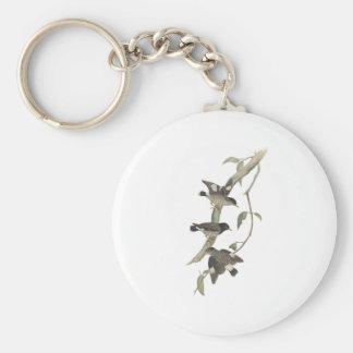Striated sittella basic round button key ring