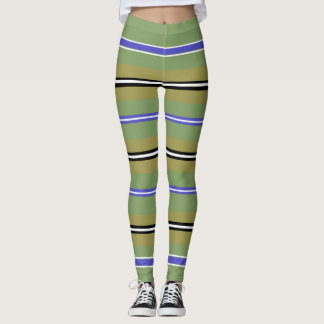 Striates Pea Leggings