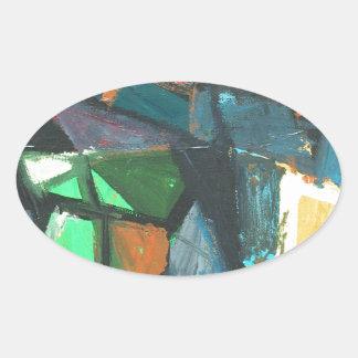Strict Interior (abstract interior) Oval Sticker