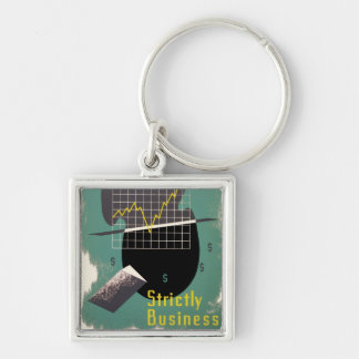 Strictly Business Silver-Colored Square Key Ring