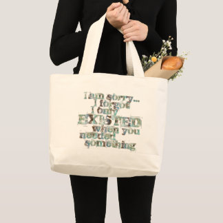 STRICTLY TYPOGRAPHY 1 LARGE TOTE BAG