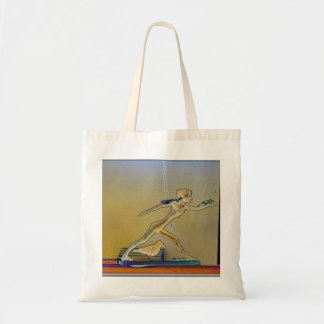 Striding Woman Tote Bag