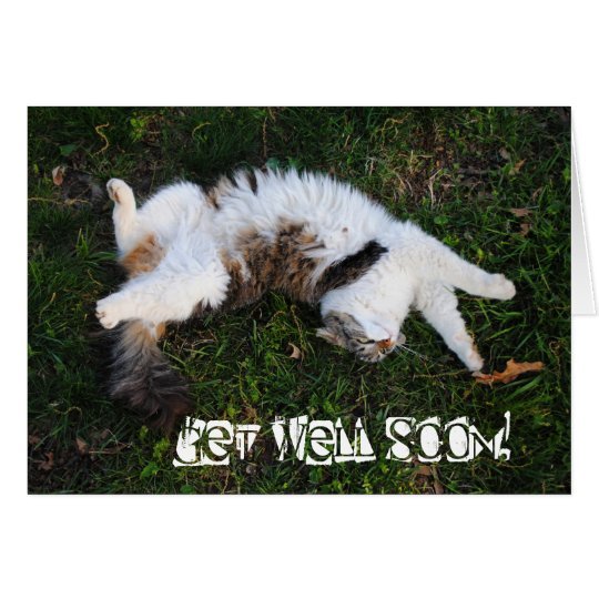 Strike A Pose! Cat Get Well Soon Card