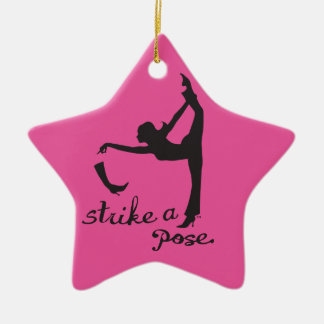 Strike a Pose ~ Dancer & Yoga Inspired Creative Ceramic Ornament