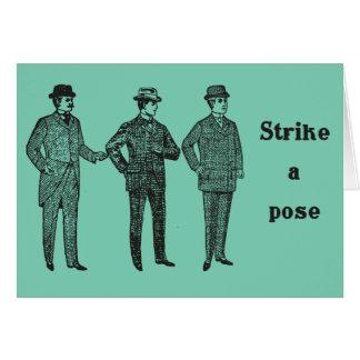 """""""Strike a Pose"""" Dapper Vintage Gents card"""