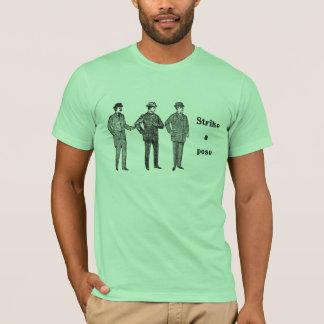 """Strike a Pose"" vintage dapper gents t-shirt"