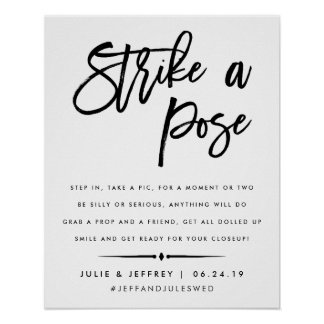 Strike a Pose | Wedding Photo Booth Poster
