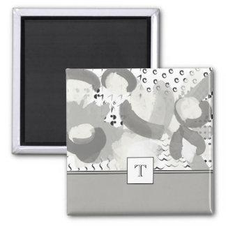 Strike A Posy Monogram Square Magnet